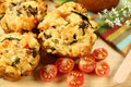 Savory Muffins Stock Photo