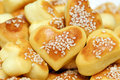 Savory pastries cakes with heart shaped clover Stock Photography