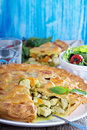 Savory pie with chicken closed and vegetables Stock Photography