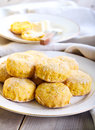 Savory scones with roast pumpkin Royalty Free Stock Photography