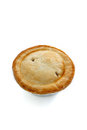 A savoury meat pie with shortcrust pastry studio isolated Royalty Free Stock Photography