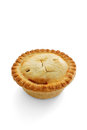 A savoury meat pie with shortcrust pastry studio isolated Stock Photography
