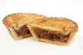 Savoury pie meat with a beef filling studio isolated Stock Image