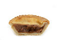 Savoury pie meat with a beef filling studio isolated Royalty Free Stock Photos