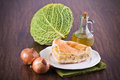 Savoy cabbage calzone. Stock Photo