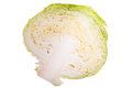 Savoy cabbage half a head of photographed on a light table Stock Photo
