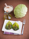 Savoy cabbage roulades. Royalty Free Stock Images