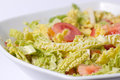 Savoy cabbage salad Stock Photography