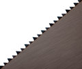 Saw blade teeth detail, diagonal - square crop Royalty Free Stock Photos