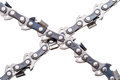 Saw chain on white new isolated background Royalty Free Stock Photos