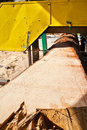 Saw mill industrial cutting wood Stock Photo