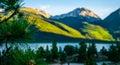 Sawatch mountain scene pine needles twin lake heaven