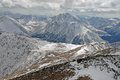 Sawatch range rocky mountains colorado la plata peak as viewed from mount elbert in early season snow Royalty Free Stock Photography