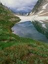 Sawtooth Lake and approaching storm, Sawtooth Range, Sawtooth Wilderness, Idaho