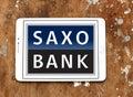 Saxo Bank logo Royalty Free Stock Photo
