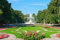 Saxon Garden in Warsaw, Poland Royalty Free Stock Photo