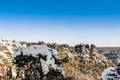Saxon switzerland in winter Royalty Free Stock Photo