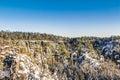 Saxon switzerland in winter Royalty Free Stock Photo