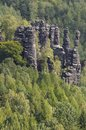 Saxony switzerland biela vally view in the Royalty Free Stock Photos
