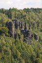Saxony switzerland biela vally view in the Royalty Free Stock Images