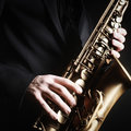 Saxophone alto music instruments Royalty Free Stock Photo