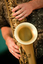 Saxophone music Stock Photo