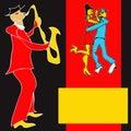 Saxophone Player Royalty Free Stock Photo