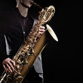 Saxophone music instruments Royalty Free Stock Photo