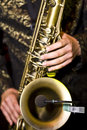 Saxophone player Royalty Free Stock Photo