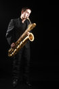 Saxophone player jazz man Royalty Free Stock Photo