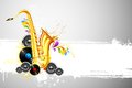 Saxophone and Speaker Royalty Free Stock Photography