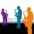 Saxophonist Background Royalty Free Stock Images