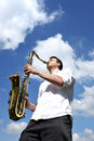 Saxy player Stock Photos