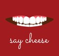 Say cheese card Royalty Free Stock Photo