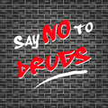 Say no to drugs abstract illustration for Stock Photos