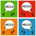 Saying hello