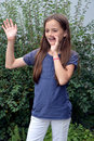 Saying hello or goodbye Royalty Free Stock Photo