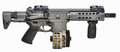 SBR AR15 with drum mag and fwd pistol grip Royalty Free Stock Photo