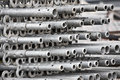 Scaffold aluminum scaffolding at construction site Royalty Free Stock Photos