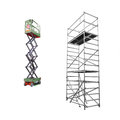 Scaffold and lift the image of under the white background Royalty Free Stock Photo