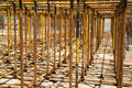 Scaffold metal at a construction site Royalty Free Stock Images