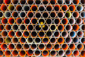 Scaffold pipe. Royalty Free Stock Photo