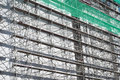 Scaffolding as safety equipment construction site Royalty Free Stock Photography