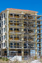 Scaffolding on Beach Condo Construction Royalty Free Stock Photo