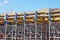 Scaffolding of bridge construction site Royalty Free Stock Photography
