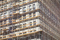 Scaffolding a building covered with in new york city Royalty Free Stock Photos
