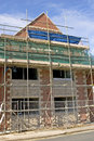 Scaffolding building site new house Royalty Free Stock Photography