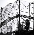 Scaffolding at a Construction Site Royalty Free Stock Photo