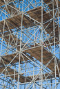 Scaffolding on a Construction Site Royalty Free Stock Photography
