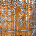 Scaffolding construction site around new building Stock Photography
